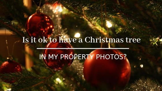 Is it ok to have a Christmas tree in my property photos?