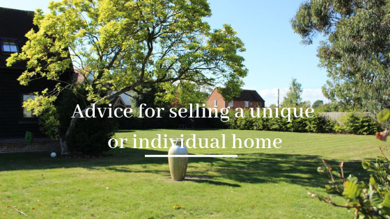 Advice for selling a unique or individual home