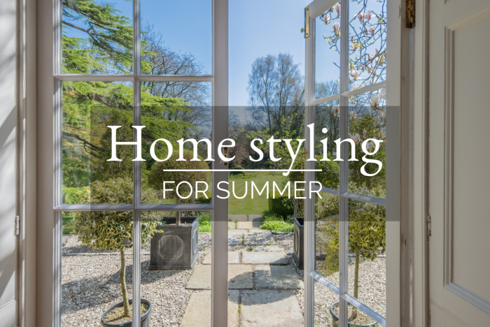 Home styling for summer